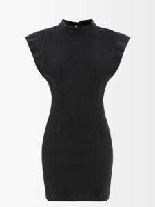 Raey - Dolman Sleeve Belted Silk Blend Shirtdress - Womens - Bronze