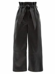 Raey - Hawaii Floral Print Dolman Sleeve Silk Shirtdress - Womens - Blue Print