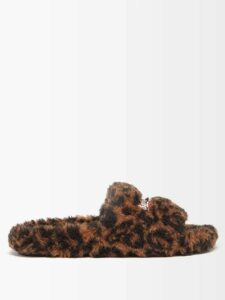 Loewe - Lace Insert Crinkled Dress - Womens - Light Pink
