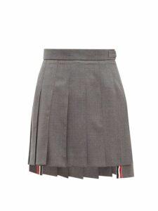 Thom Browne - Pleated Wool Twill Mini Skirt - Womens - Grey Multi