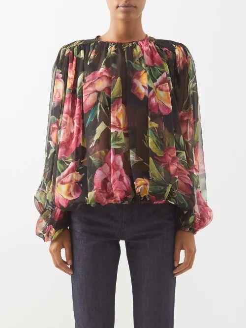 Msgm - Tie-waist Houndstooth Wool-blend Skirt - Womens - Brown