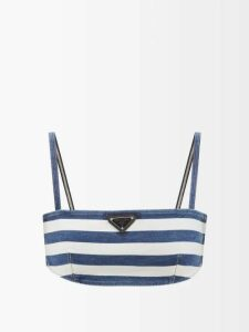 Msgm - Tie Waist Houndstooth Wool Blend Skirt - Womens - Brown