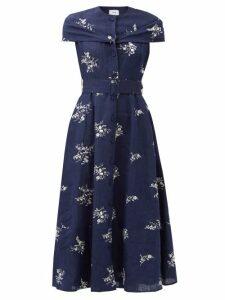 Msgm - Snake Print Jersey Shirt - Womens - Beige Multi