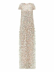 Carolina Herrera - Sequin Embellished Tulle Gown - Womens - Pink Multi