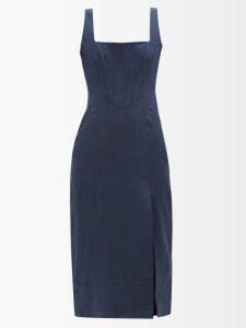 Joseph - Gibson Pinstriped Poplin Shirt - Womens - Navy White