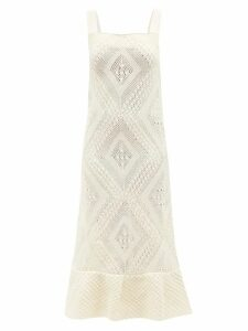 Nili Lotan - Double Breasted Suede Trench Coat - Womens - Brown