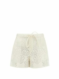 Batsheva - Strawberry Print Cotton Wrap Jacket - Womens - Multi
