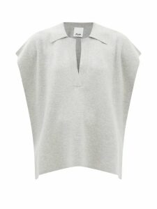 No. 21 - V Neck Ruched Crepe Dress - Womens - Red