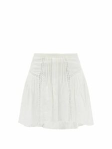 Redvalentino - Crystal Embroidered Pleated Crepe Midi Dress - Womens - Navy