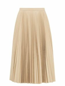 Redvalentino - Scalloped Patch Pocket Crepe Mini Skirt - Womens - Red
