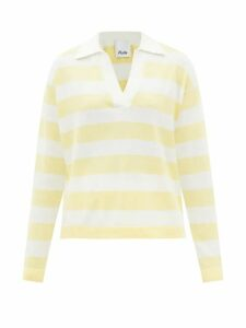 Redvalentino - Neck Tie Floral Print Chiffon Midi Dress - Womens - White Multi