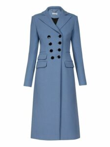 Altuzarra - Janine Double Breasted Wool Coat - Womens - Light Blue