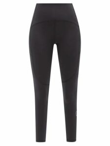 Versace - Logo Crystal Embellished Jersey T Shirt - Womens - Black
