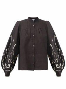 Msgm - Snake Print Laminated Mini Dress - Womens - Beige Multi