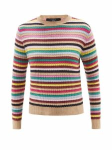 Msgm - Python Effect Patent Ruffled Blouse - Womens - Pink