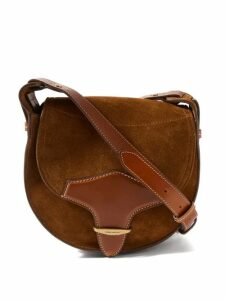 Msgm - Houndstooth Ruffle Trim Wool Blend Trench Coat - Womens - Beige