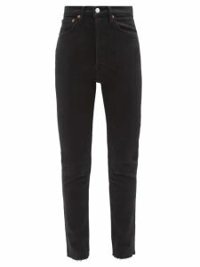 Msgm - Tie Back Denim Blouse - Womens - Indigo