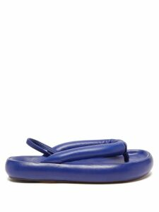 Msgm - High Rise Fluted A Line Midi Skirt - Womens - Light Denim