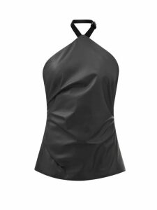 Diane Von Furstenberg - Chrissy Lemon Print Silk Knee Length Skirt - Womens - Black Multi