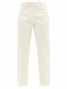 Isabel Marant Étoile - Moby Flocked Logo Cotton Blend Sweatshirt - Womens - Grey