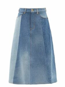 Roland Mouret - Kells Sequinned Wrap Skirt - Womens - Navy Multi
