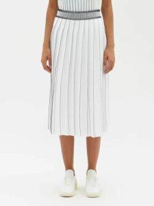 Saloni - Fara Cotton Blend Midi Dress - Womens - Dark Green