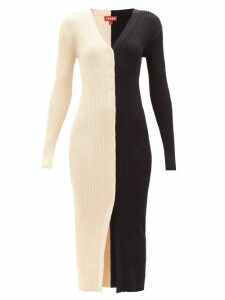 The Row - Martina Beaded Neck Pleated Crepe Gown - Womens - Ivory