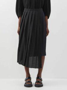 Peter Pilotto - Cape Sleeve Floral Print Silk Midi Dress - Womens - Blue Multi