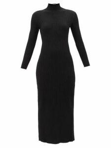 Peter Pilotto - Ruffle Trim Floral Print Silk Georgette Gown - Womens - Blue Multi