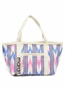 Saloni - Lily One Shoulder Floral Print Silk Dress - Womens - Red Multi