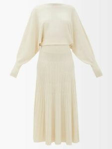 Raquel Diniz - Teresa Polka Dot Silk Satin Dress - Womens - Blue Multi