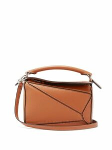 Loewe - Puzzle Small Grained Leather Cross Body Bag - Womens - Tan