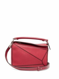 Loewe - Puzzle Grained Leather Cross Body Bag - Womens - Red