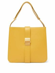 Bottega Veneta - The Marie Leather Shoulder Bag - Womens - Light Yellow