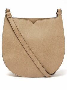 Valextra - Hobo Weekend Grained Leather Shoulder Bag - Womens - Beige