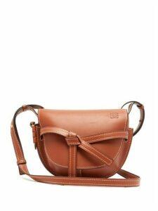 Loewe - Gate Small Leather Cross Body Bag - Womens - Brown