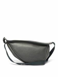 The Row - Slouchy Banana Leather Cross Body Bag - Womens - Green