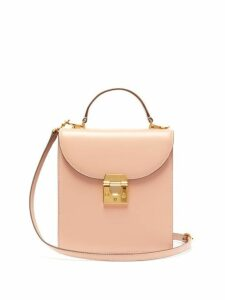 Mark Cross - Uptown Leather Box Bag - Womens - Beige
