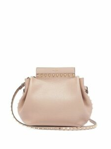 Valentino - Rockstud Leather Cross Body Bag - Womens - Nude