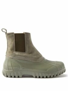 Staud - Suzy Canvas And Leather Shoulder Bag - Womens - Beige Multi