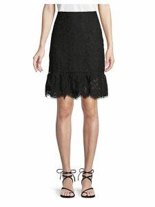 Flounce Hem Lace Skirt