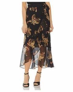Vince Camuto Paisley-Print Ruffled Wrap Skirt
