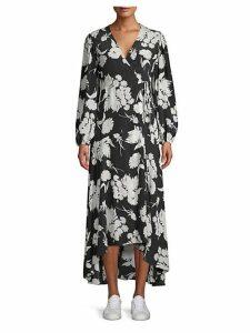 Kochhar Silk Hi-Lo Maxi Dress