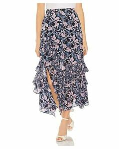 Vince Camuto Charming Floral Tiered-Ruffle Skirt