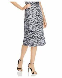 Bardot Mayah Leopard Print Slip Skirt