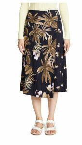Vince Mixed Tropical Garden Skirt