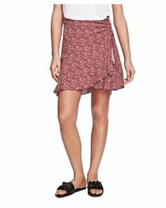 1.state Ruched Floral-Print Skirt