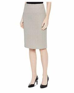 Misook Basketweave Textured Pencil Skirt