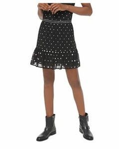 Michael Michael Kors Ruffled Studded Georgette Skirt