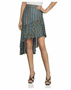 Bcbgmaxazria Asymmetric Geometric-Stripe Skirt